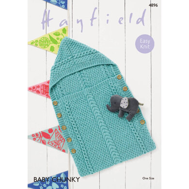Baby Sleeping Bag in Hayfield Baby Chunky - 4896 - Downloadable PDF