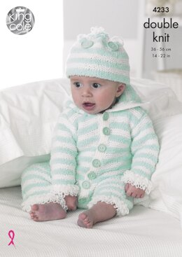 Baby Set in King Cole DK - 4233 - Downloadable PDF
