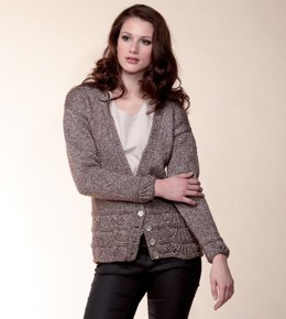 Bolero with Short Sleeves & V Neck Cardigan in Rico Fashion Mettallise Aran - 215 - Downloadable PDF
