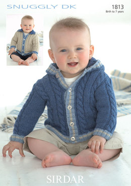 Collar and Hood Jackets in Sirdar Snuggly DK - 1813 - Downloadable PDF
