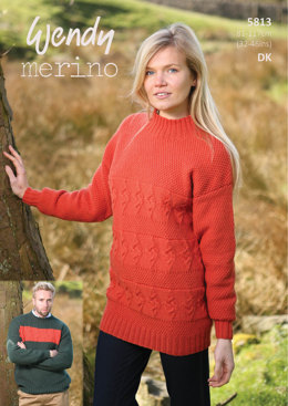 Textured Sweaters in Wendy Merino DK - 5813