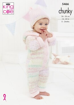Baby Set in King Cole Comfort Cheeky Chunky & Comfort Chunky - 5466 - Downloadable PDF