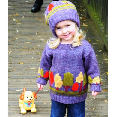Child's Tree Sweater and Hat