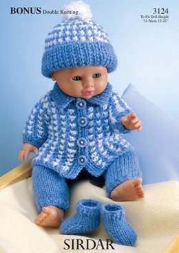 Doll's Outfit in Hayfield Bonus DK - 3124 - Downloadable PDF
