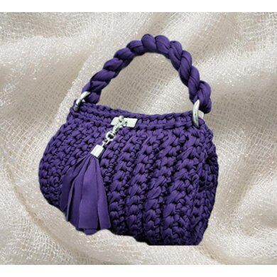 Crochet purple Bag