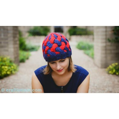 Bulky Braided Knit Hat