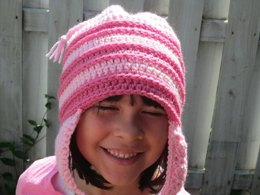Pink Striped Hat