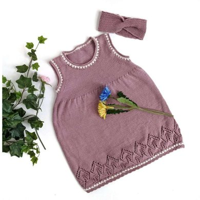 """Leaves"" Toddler Girl Dress"
