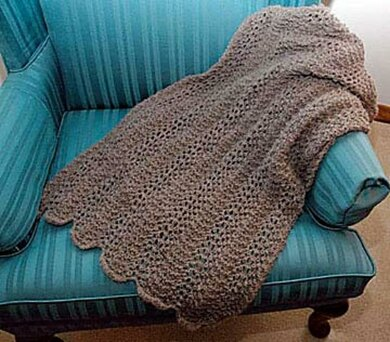 Feather and Fan Scarf or Stole