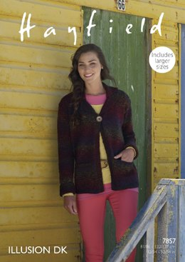 Jacket in Hayfield Illusion DK - 7857- Downloadable PDF
