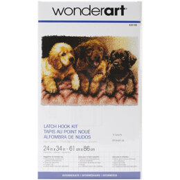 Wonderart Lab Puppies Latch Hook Rug Kit