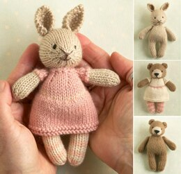 Mini girl bunny and bear