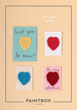My Love Card in Paintbox Yarns Cotton DK - Downloadable PDF