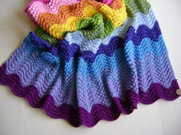 Knitting In Technicolor Waves