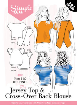 Simple Sew Patterns The Jersey Top & Cross-Over Back Blouse #015 - Sewing Pattern