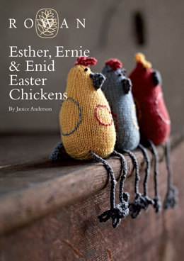 Esther, Ernie & Enid Easter Chickens Toys in Rowan Baby Merino Silk DK