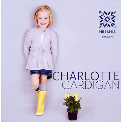 Girls' Charlotte Cardigan in MillaMia Merino Wool