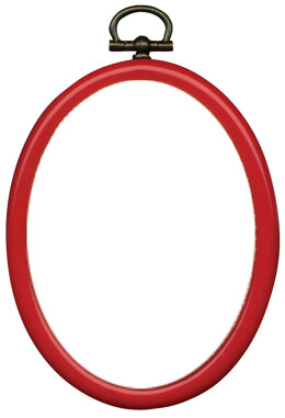 Permin 3 x 4 Inch Red Oval Flexi-Hoop