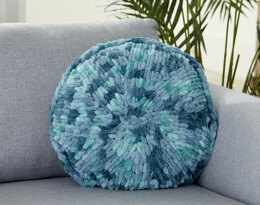 Round Pillow in Bernat Alize Blanket-EZ - Downloadable PDF
