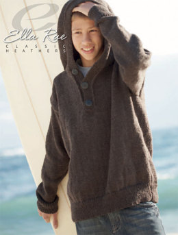 Joseph Hoodie in Ella Rae Classic Heathers - E18-01 - Downloadable PDF