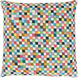 Rico Multi-colour Small Squares Gobelin Tapestry Cushion Kit (40 x 40 cm) - Multi
