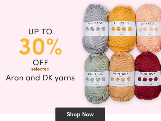 Up to 30 percent off selected Aran and DK yarns!