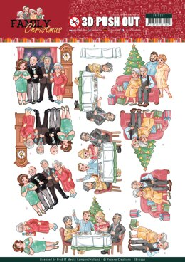 Find It Trading Yvonne Creations Punchout Sheet - Happy Family, Family Christmas
