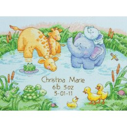 DimensionsLittle Pond Counted Cross Stitch Birth Record 12in x 9inKit