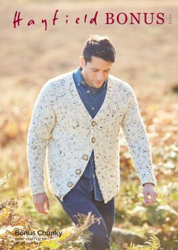 Man's Cardigan in Hayfield Bonus Chunky - 8294 - Downloadable PDF
