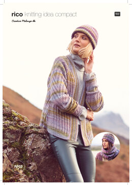 Women's Cardigan, Headband and Snood in Rico Creative Melange dk - 1050 - Downloadable PDF