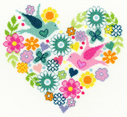 Bothy Threads Heart Bouquet Cross Stitch Kit