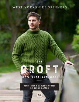 Boyd Cabled sweater in West Yorkshire Spinners The Croft DK - DBP0041 - Downloadable PDF