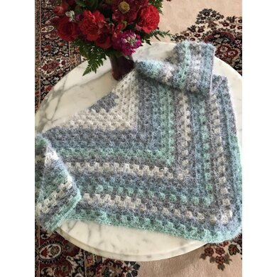 EASY BEGINNER'S Granny Square Scarf or Shawl