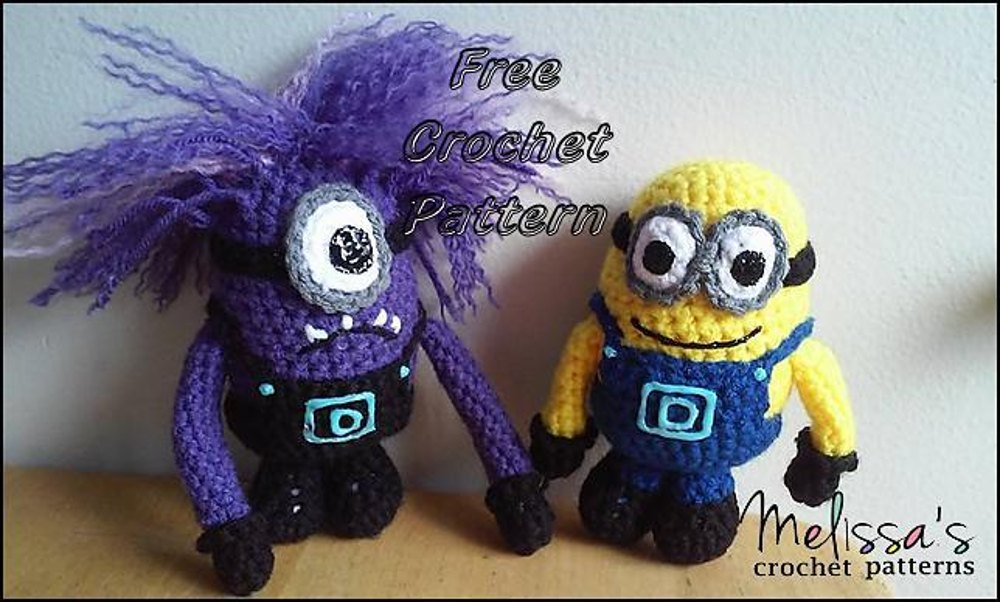 Minion And Evil Minion Crochet Pattern By Melissas Crochet Patterns