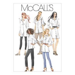 McCall's Misses'/Miss Petite/Women's/Women's Petite Shirts In 3 Lengths M6124 - Sewing Pattern