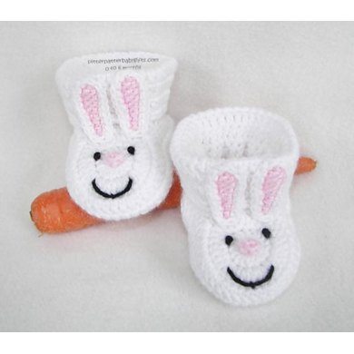 Bunny Slipper Baby Booties