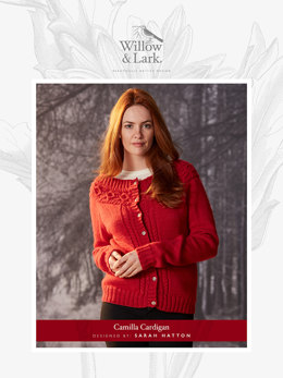 """Camilla Cardigan"" - Cardigan Knitting Pattern For Women in Willow and Lark Nest-6"