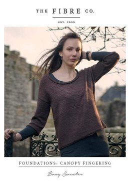 Boxy Sweater in The Fibre Co. Canopy Fingering - Downloadable PDF