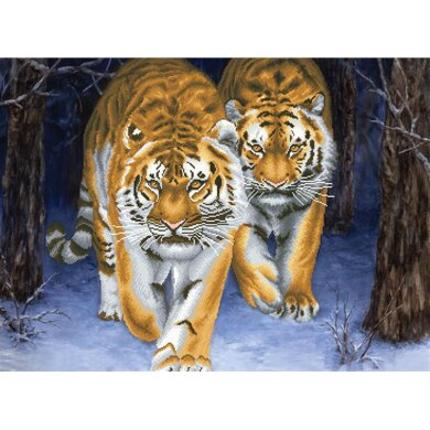 Needleart World Stalking Tigers No-Count Cross Stitch Kit - N750-042