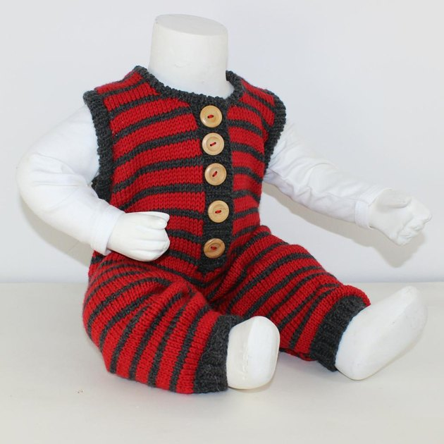 FREE Cloudborn Fibers Baby Stripe Dungarees Knitting ...