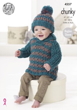 Baby Set in King Cole Chunky - 4557 - Downloadable PDF