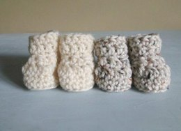 Quick and Easy Crochet Baby Booties