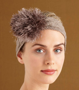 Sparkling Headband in Lion Brand Vanna's Glamour and Fun Fur - L0727