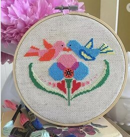 Luhu Stitches Love Birds - Downloadable PDF