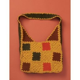 Felted & Crochet Patchwork Bag in Patons Classic Wool Worsted - Downloadable PDF