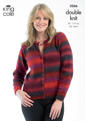 Cardigans in King Cole Riot DK - 3266