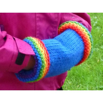 Rainbow Brim Muff Knitting pattern by Rainbow Knits | Knitting ...