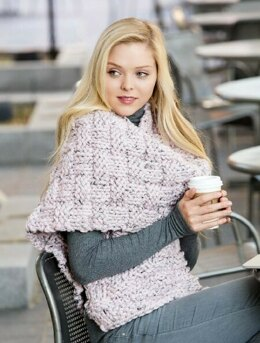 Mega Basketweave Scarf in Premier Yarns Mega Tweed - Downloadable PDF