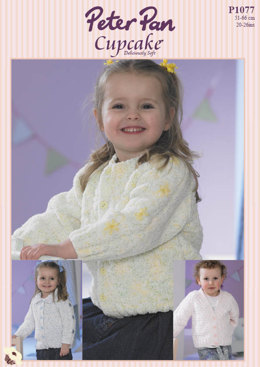 Child Cardigan in Peter Pan DK 100g - 1077