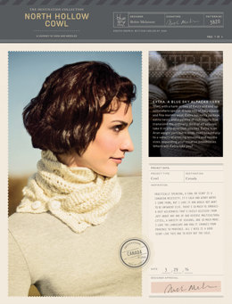 North Hollow Cowl in Blue Sky Fibers Extra - 3820 (Downloadable PDF)